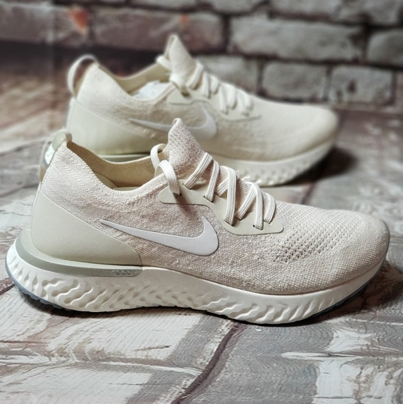 4741f741c693a Wmns Nike Epic React Flyknit 9.5 Us Light Cream